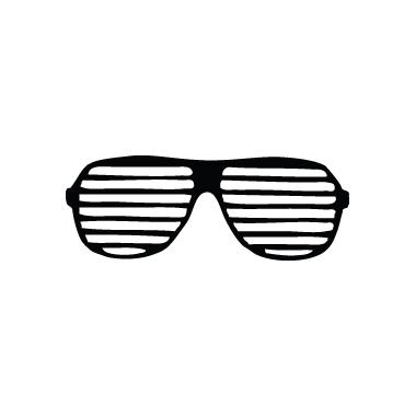 Stickers Anni '70 - c3 - occhiali