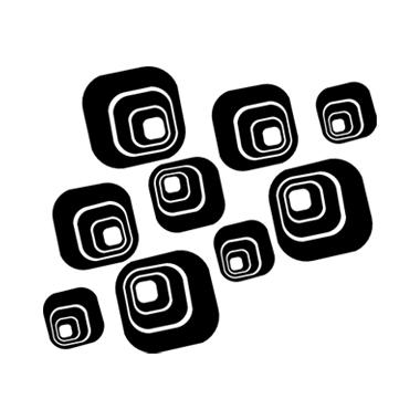 Stickers Anni '70 - s10 - quadrati concentrici