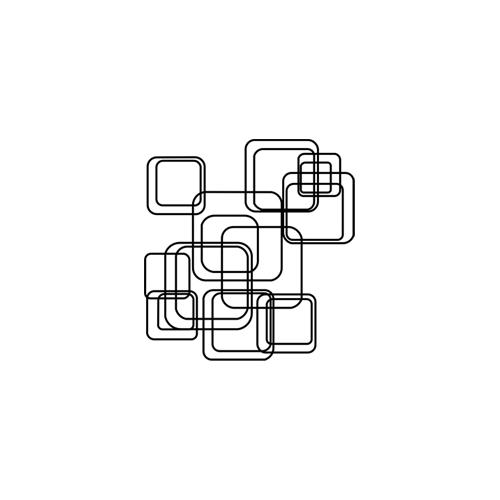 Stickers Anni '70 s8 - geometrico
