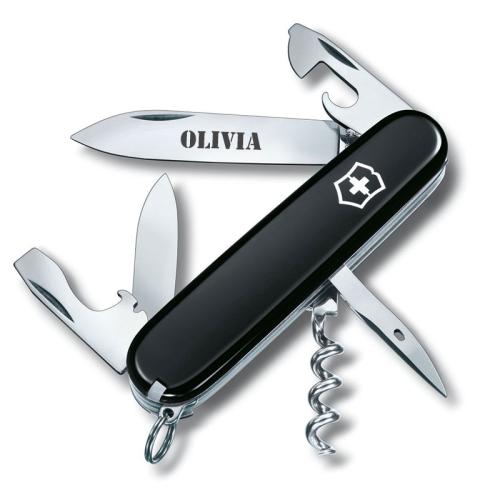Coltellino svizzero Spartan nero personalizzato
