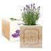 Ecocube personalizzato cornice fiorita lavanda