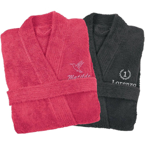Accappatoio personalizzato kimono ricamato