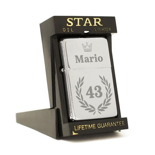 Accendino Star compleanno personalizzabile