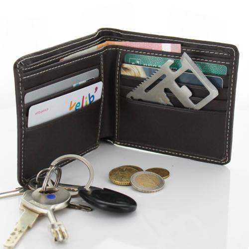 Carta di credito portafogli sopravvivenza