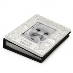 Cornice e Album foto neonato in metallo