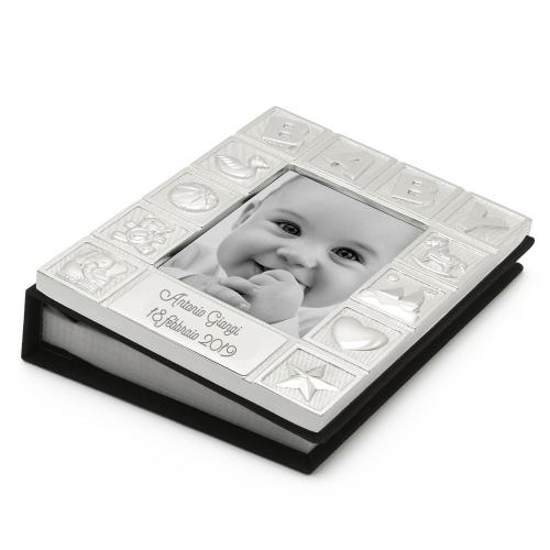 Album foto neonato in metallo