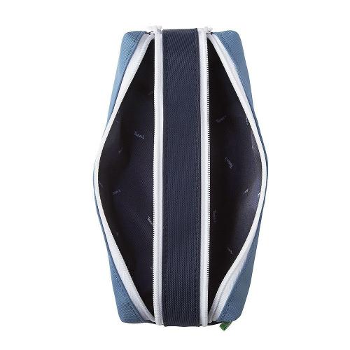 Astuccio Tann's Blu di Prussia personalizzato doppio aperto