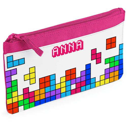 Astuccio portamatite tetris con nome