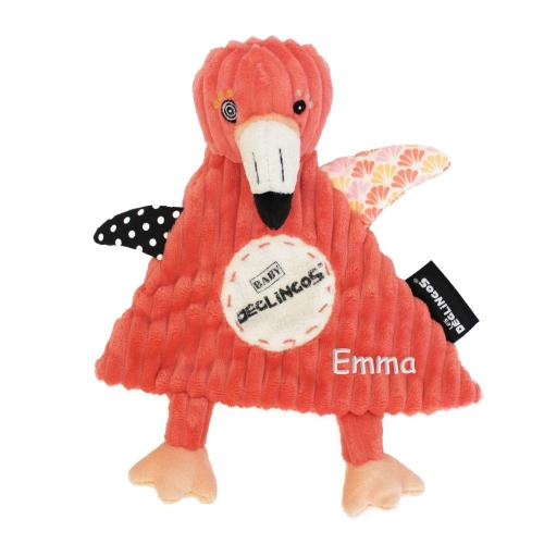 Doudou baby Flamingos fenicottero rosa personalizzato