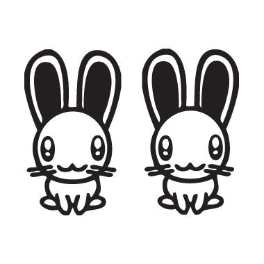 Sticker Coniglietti