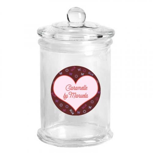 Barattolo di vetro personalizzato cioccolatini