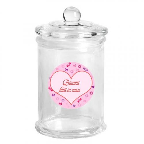 Barattolo di vetro personalizzato caramelle