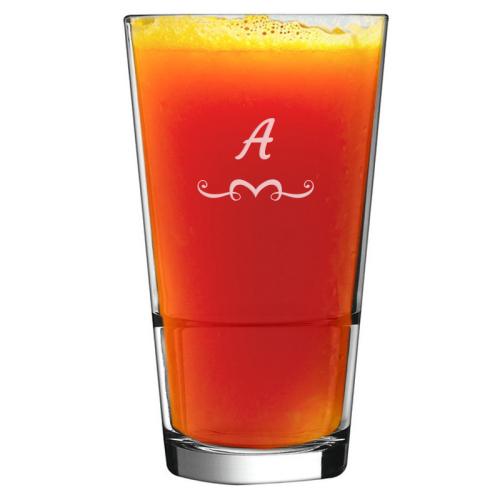 Bicchiere da cocktail con iniziale