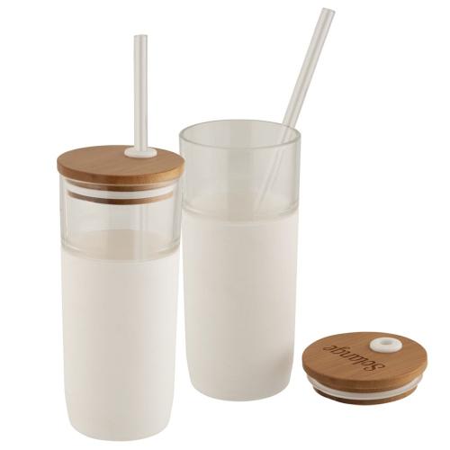 Bicchiere personalizzabile eco bianco