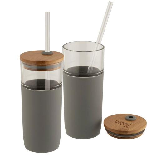 Bicchiere personalizzabile eco grigio