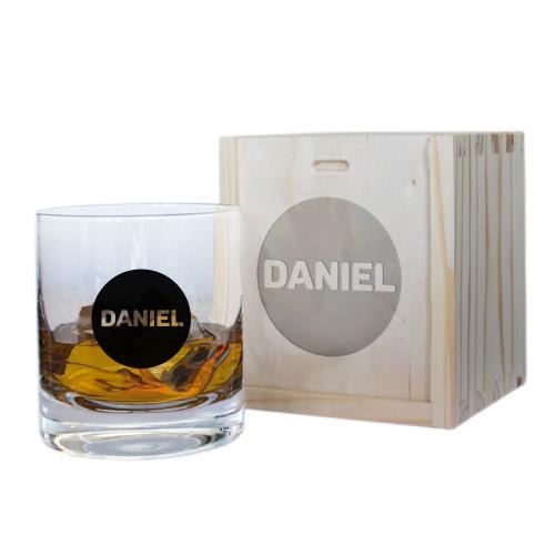 Bicchiere da whisky nome cerchio nero