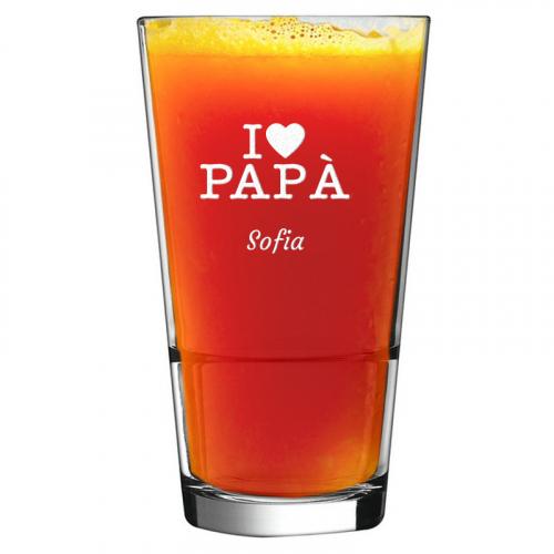 Bicchiere da cocktail I love Papa