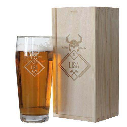 Bicchiere da birra con nome personalizzabile