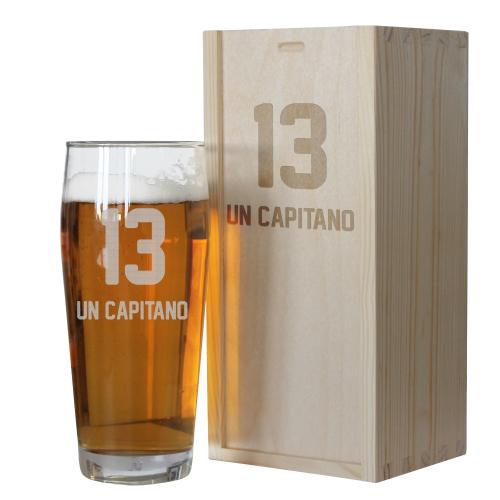 Bicchiere birra tifoso