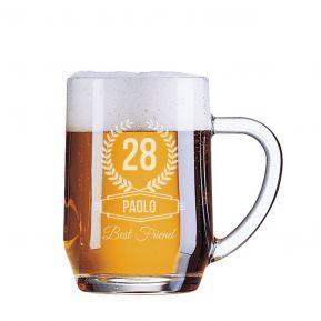 Boccale da birra compleanno personalizzato