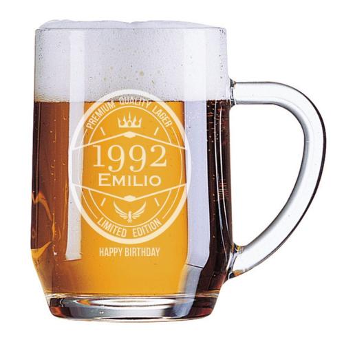 Boccale da birra anno