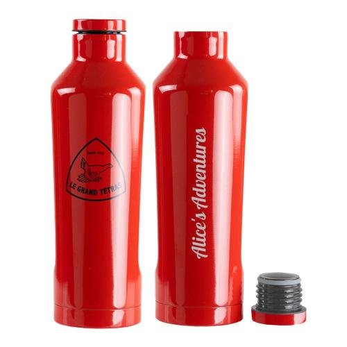 Borraccia isotermica Le Grand Tétras personalizzata rossa
