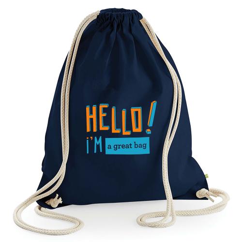 Zainetto personalizzato hello
