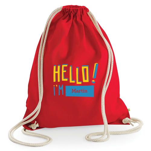 Zainetto personalizzabile hello