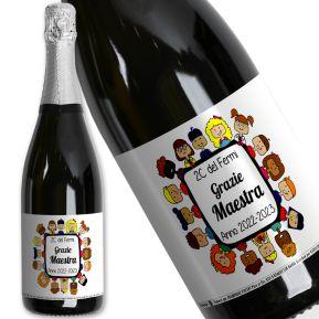 Bottiglia di champagne Grazie Maestra