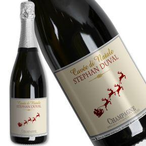 Champagne di Natale personalizzato
