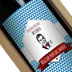 Bottiglia di vino personalizzata Marca