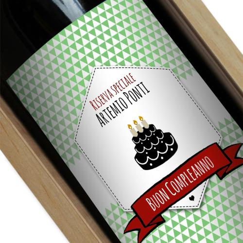 Etichetta bottiglia di vino personalizzata