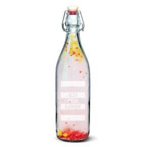 Bottiglia in vetro 1l personalizzabile con tappo meccanico