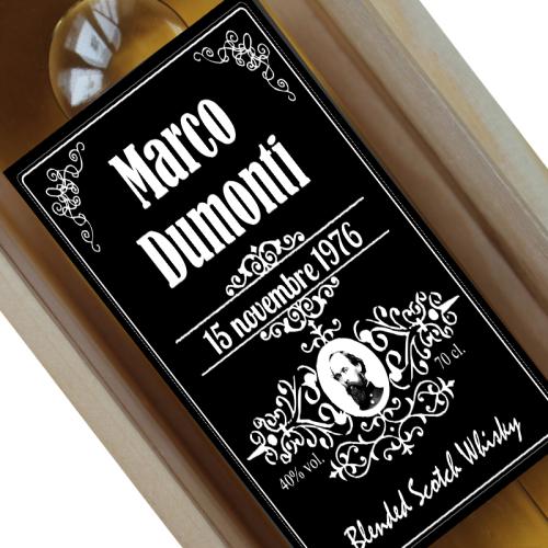 Bottiglia di whisky personalizzabile