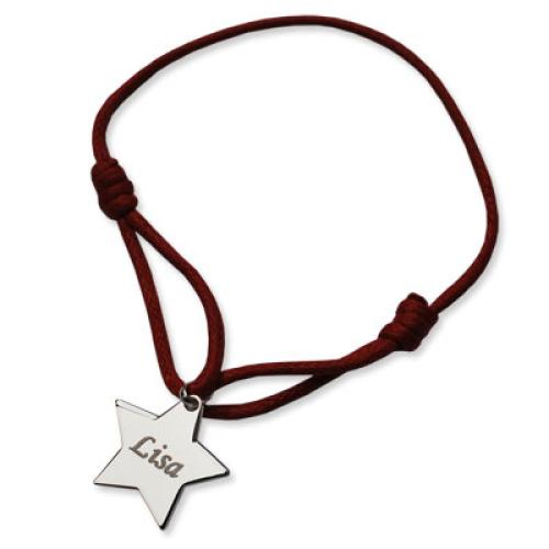 Bracciale stella personalizzato