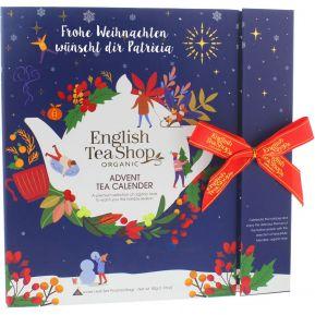 Calendario dell'avvento tè bio personalizzato