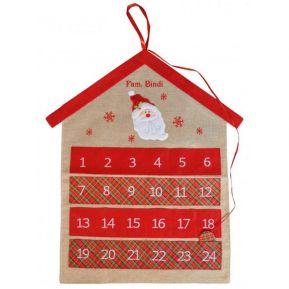 Calendario dell'Avvento in lino personalizzato
