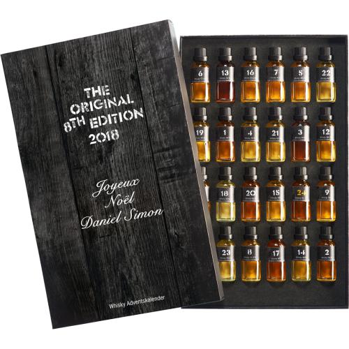 Calendario dell'avvento whisky personalizzato