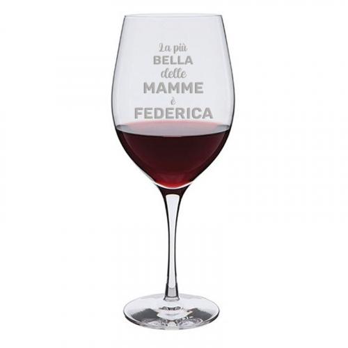 Calice da vino Mamma La più bella