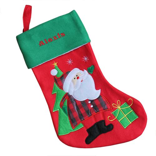 Calza natalizia Babbo Natale
