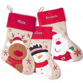 Calza natalizia bambini personalizzata con nome