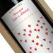 Bottiglia vino con etichetta personalizzata cuori
