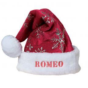 Cappello di Natale con fiocchi di neve e paillette