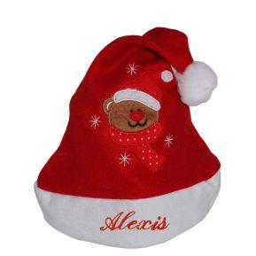 Cappello Babbo Natale bambino con nome