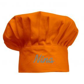 Cappello da chef per bambini personalizzato arancione