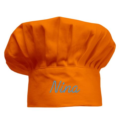 Cappello chef personalizzato bambino arancione