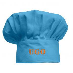 Cappello da chef per bambini personalizzato azzurro