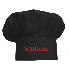 Cappello da chef per bambini personalizzato nero