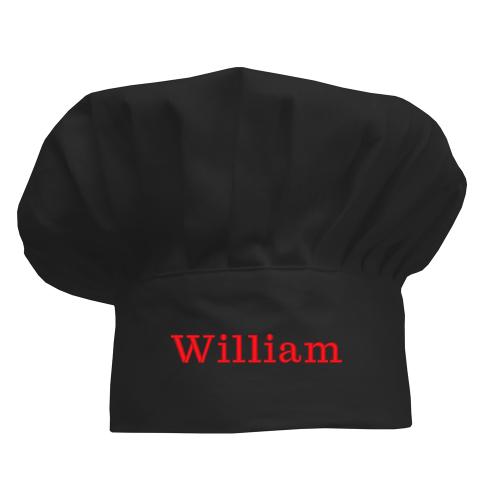 Cappello chef personalizzato bambino nera