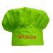 Cappello chef personalizzato bambino verde